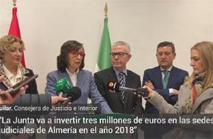 La consejera de Justicia visita las obras de la Audiencia Provincial de Almería