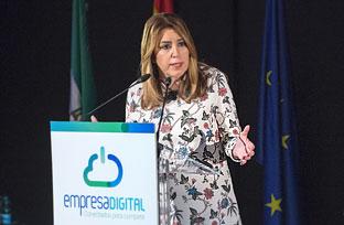 Intervención de Díaz en la presentación ante la Confederación de Empresarios de Andalucía del Plan de Acción Empresa Digital 2020