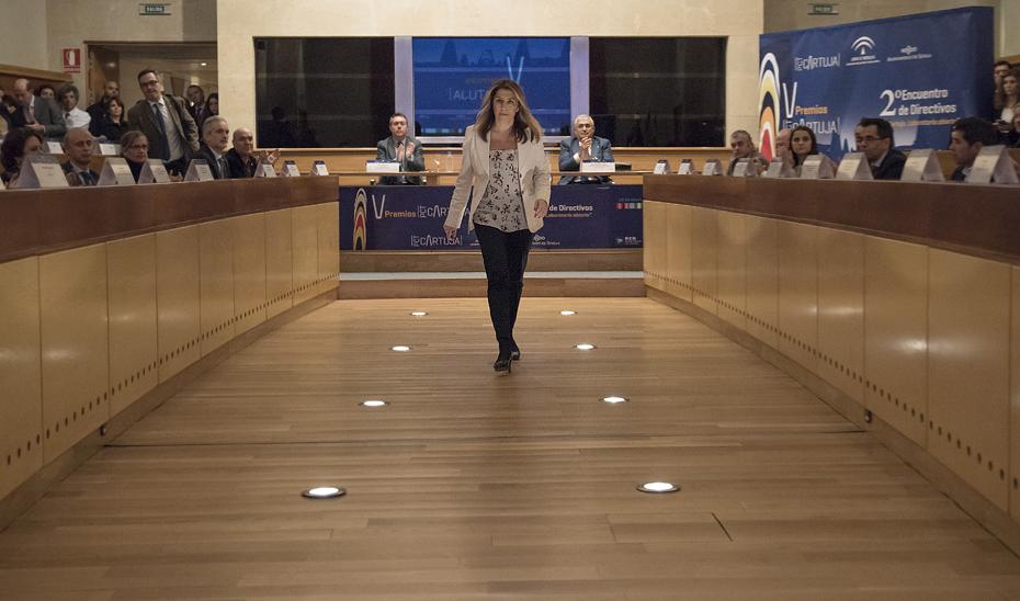 Susana Díaz ha valorado los datos de las exportaciones andaluzas en el Parque Científico Tecnológico Cartuja de Sevilla, donde ha entregado los Premios PCT.