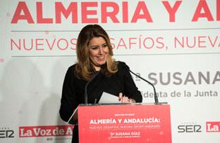 Intervención de la presidenta de la Junta, Susana Díaz, en el Foro La Voz de Almería