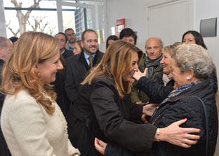 La presidenta Susana Díaz durante el acto de inauguración del centro de salud.