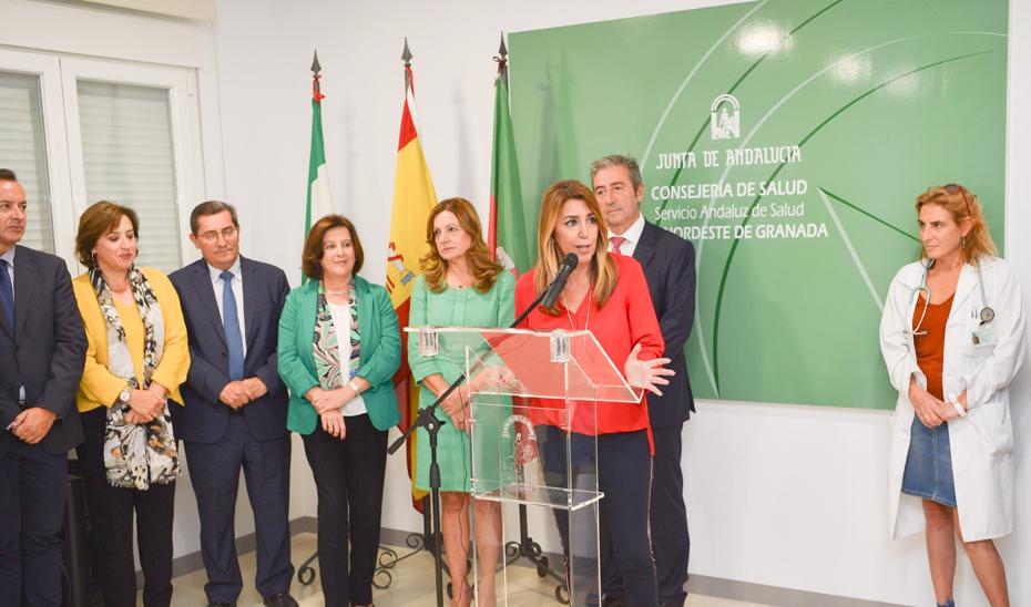 Intervención de la presidenta de la Junta durante su visita al consultorio de Benalúa