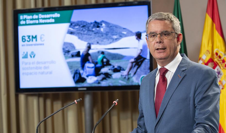 Blanco explica  la aprobación del II Plan de Desarrollo Sostenible de Sierra Nevada con 63 millones