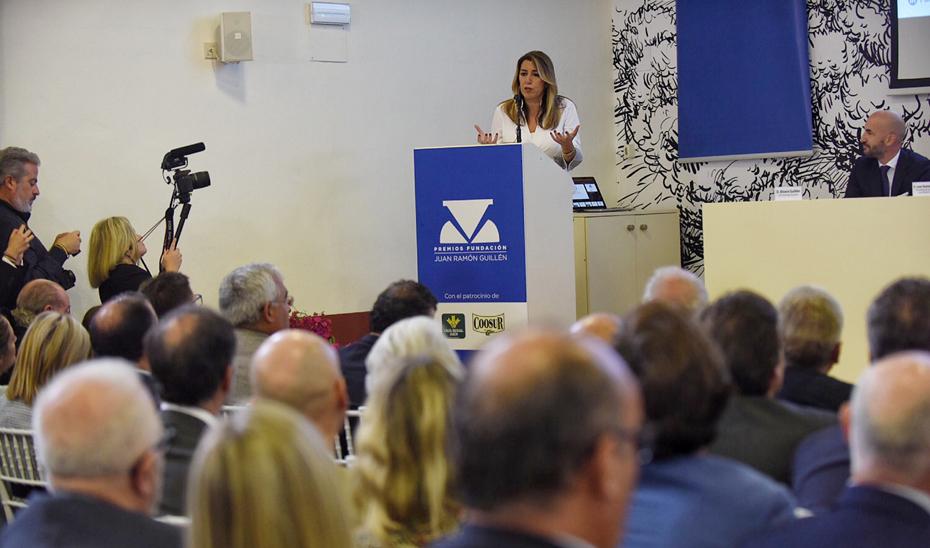 Intervención de la presidenta de la Junta de Andalucía en los Premios de la Fundación Juan Ramón Guillén