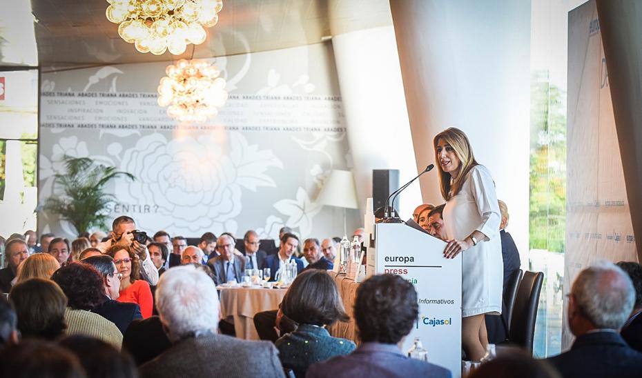 Intervención de Susana Díaz en el Desayuno Informativo de Europa Press en Sevilla