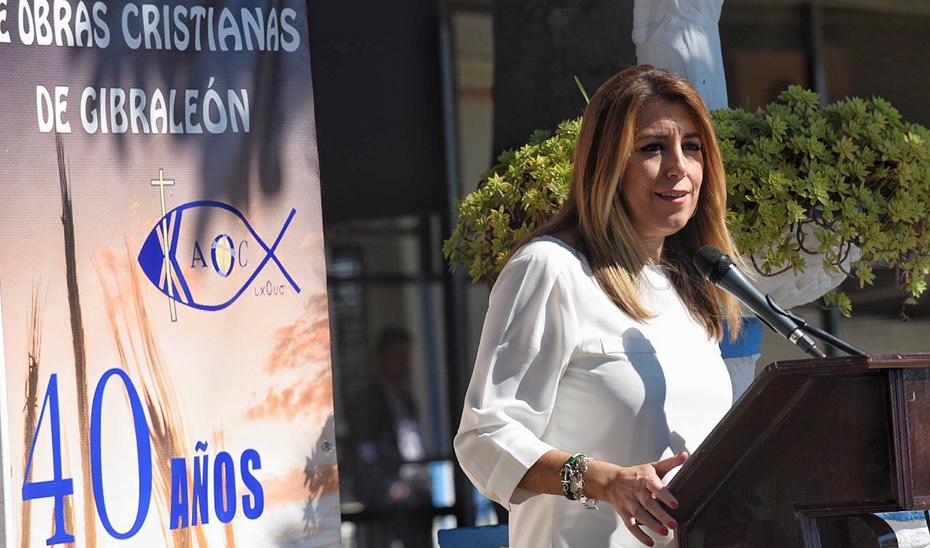 Intervención de Susana Díaz en la visita a la Asociación Obras Cristianas de Gribraleón