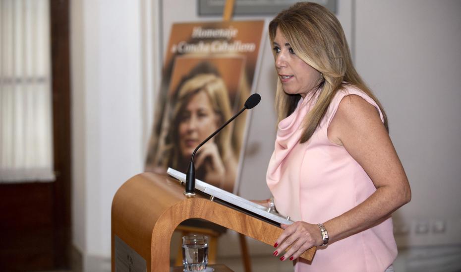Intervención de la presidenta de la Junta en el acto de homenaje a Concha Caballero
