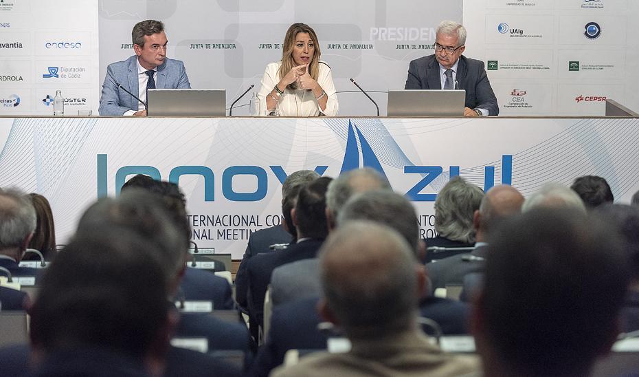 Intervención de la presidenta de la Junta en I Encuentro de Conocimiento y Crecimiento Azul (Innovazul).
