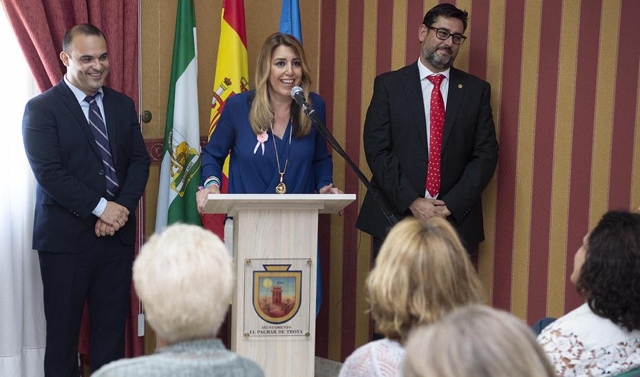 Intervención de la presidenta de la Junta en su visita a El Palmar de Troya