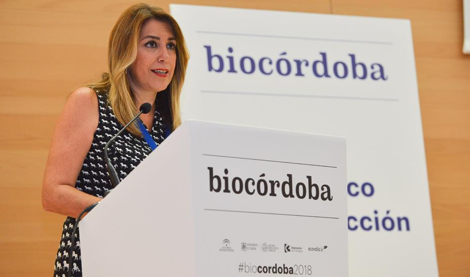 Intervención de la presidenta de la Junta en su visita a Biocórdoba 2018