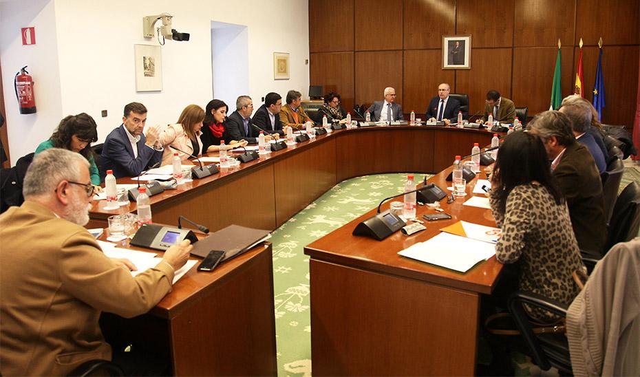 La Diputación Permanente del Parlamento, durante la reunión celebrada para la convalidación de dos Decretos Leyes.