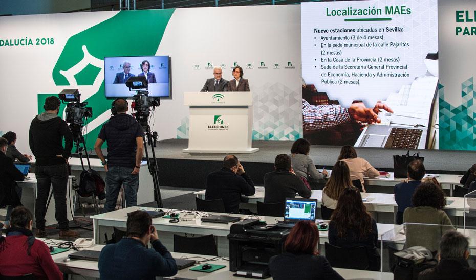 Comparecencia informativa dispositivo elecciones al Parlamento de Andalucía 2018