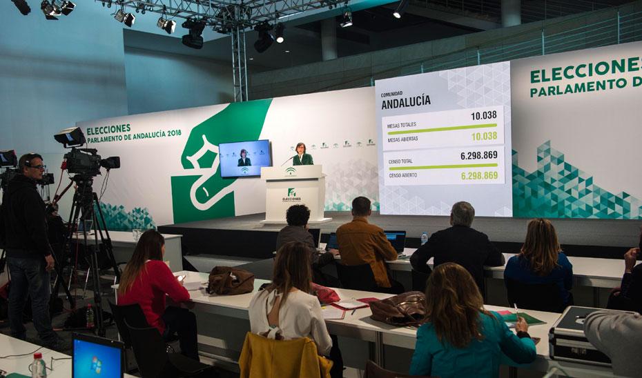 Comparecencia sobre constitución de mesas electorales Elecciones Andalucía 2018