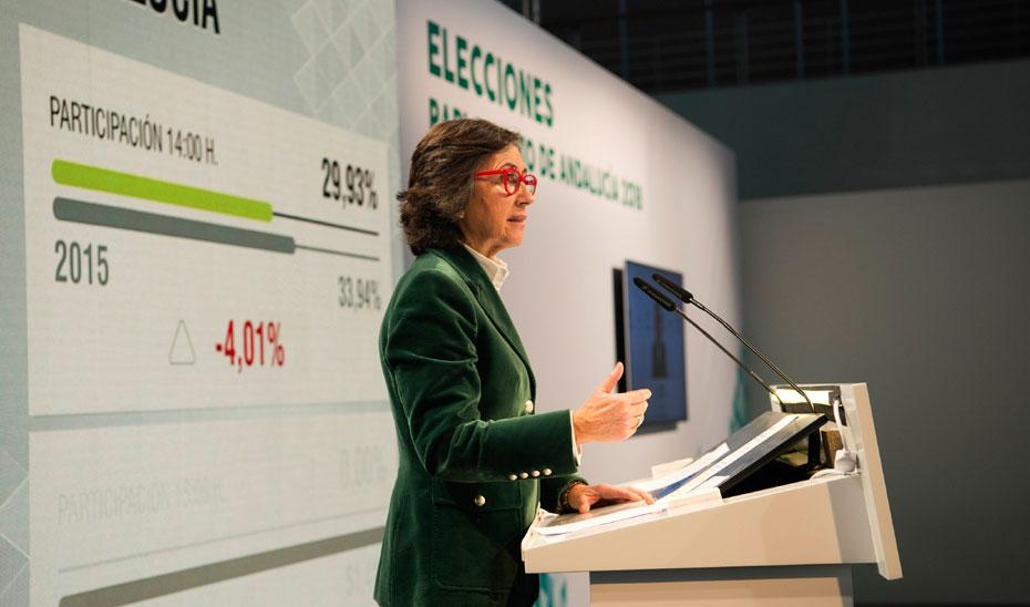 Comparecencia primer dato de participación Elecciones Andalucía 2018