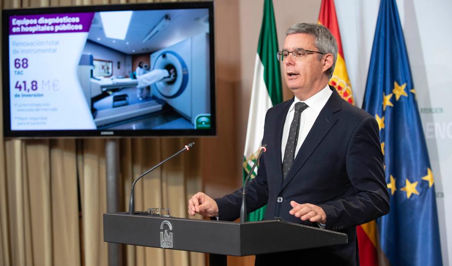 Blanco informa sobre los 41,8 millones para la contratación de 68 equipos TAC hospitalarios que renovarán el parque actual con la tecnología más avanzada del mercado