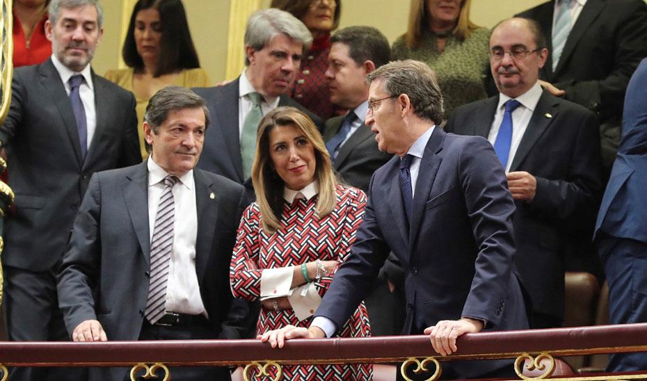 Susana Díaz asiste a los actos conmemorativos del 40 aniversario de la Constitución