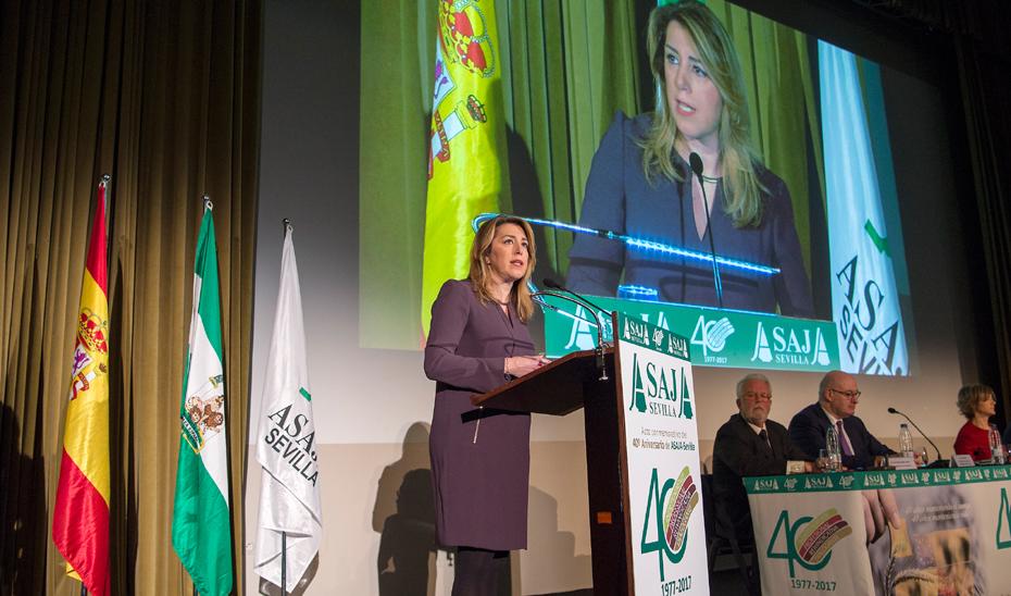 Intervención de la presidenta de la Junta en el 40 aniversario de Asaja Sevilla