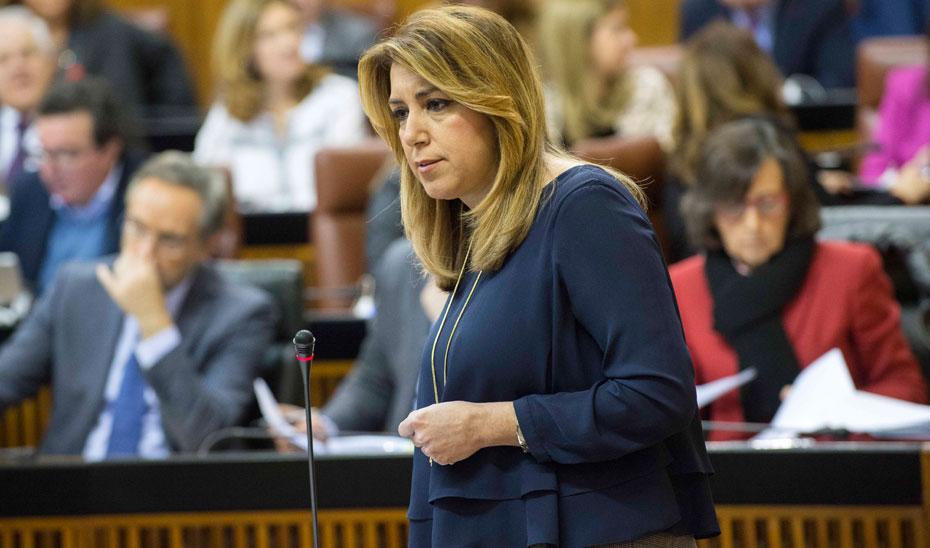 Susana Díaz anuncia que Andalucía ha cumplido por tercer año consecutivo el objetivo de déficit, con un 0,31%