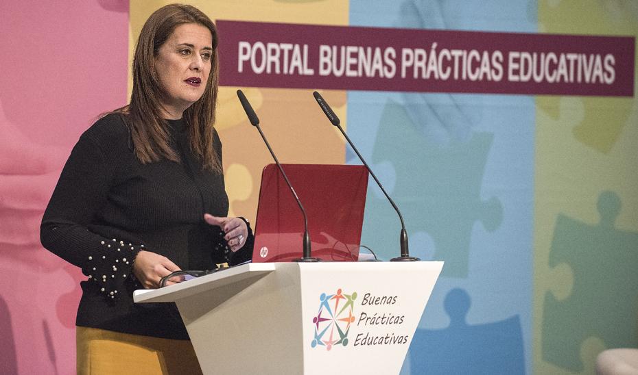 La consejera de Educación, Sonia Gaya en la presentación del Portal