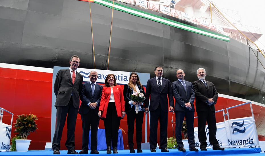 Navantia entrega el primero de los petroleros Suezmax en Puerto Real al Grupo Ibaizábal