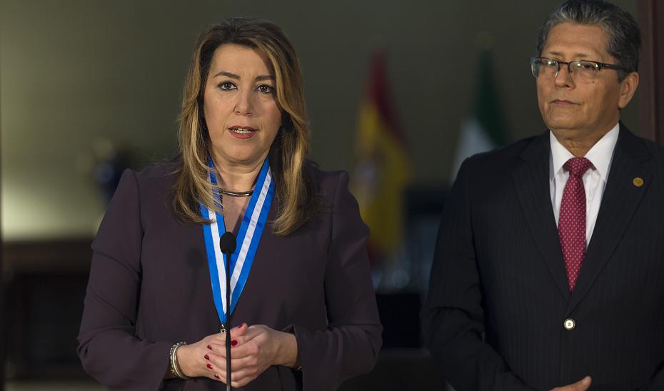Intervención de la presidenta de la Junta en el acto de entrega del Premio a la Solidaridad con El Salvador