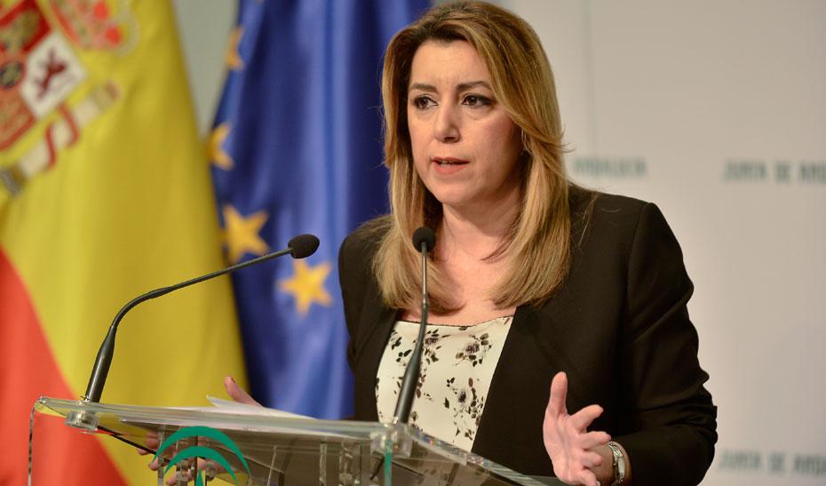 Intervención de Susana Díaz tras su reunión con el ministro del Interior