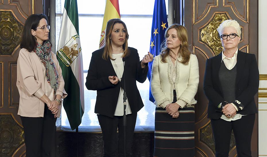 Intervención de Díaz tras la reunión con la Federación de Asociaciones de Diabéticos de Andalucía