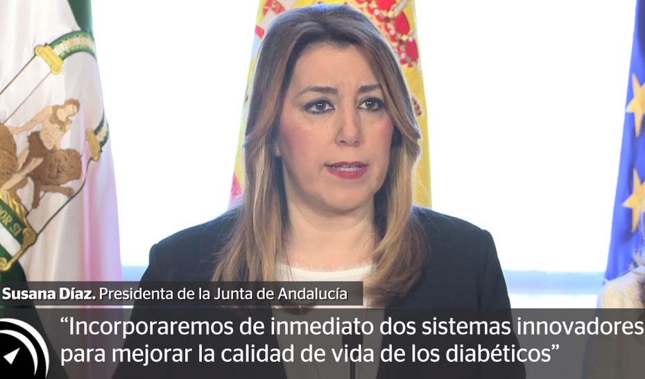 Susana Díaz avanza la incorporación de sistemas innovadores que mejoran el tratamiento y calidad de vida de las personas diabéticas