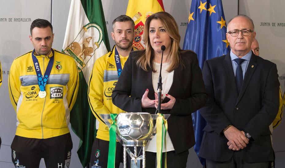 Intervención de Díaz en la recepción al Jaén Paraíso Interior Fútbol Sala