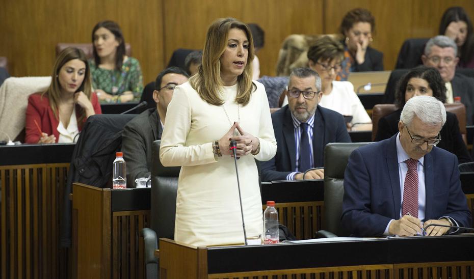 """Díaz: """"En Andalucía hay 31.000 alumnos menos y 3.000 profesores más"""""""