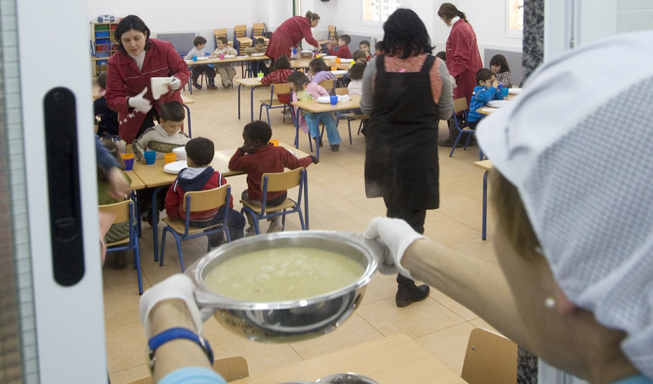 Servicio de comedor escolar.