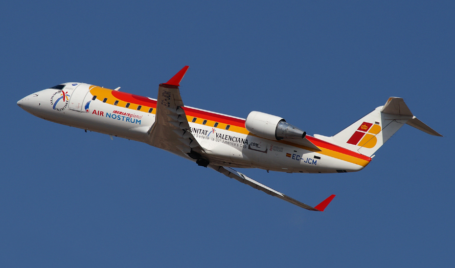 Avión que opera la ruta Almería-Sevilla.