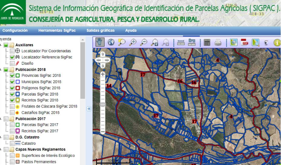 El Sistema de Información Geográfica de Parcelas Agrícolas es un registro público de carácter administrativo que contiene información de las parcelas susceptibles de beneficiarse de las ayudas comunitarias.