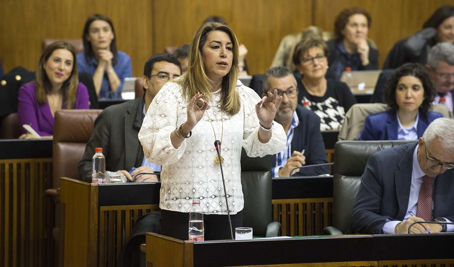 Díaz destaca que la ejecución presupuestaria en Andalucía se situó en el 96,4% el año pasado