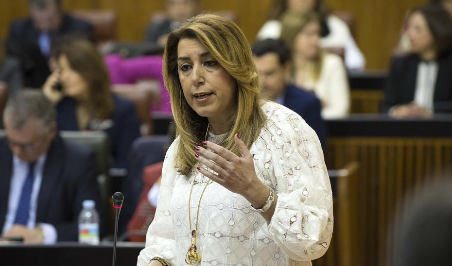 Díaz reclama a Rajoy unos PGE y una financiación acordes con las necesidades de Andalucía