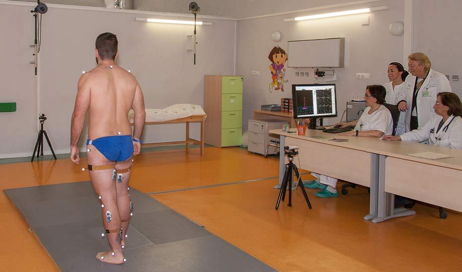 El laboratorio permite el análisis tridimensional del movimiento.