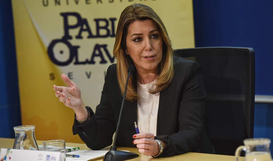 Intervención de Susana Díaz en la inauguración del CADE de la UPO en Sevilla