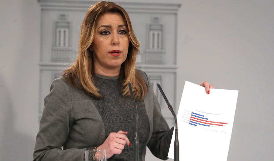 Comparecencia de Susana Díaz tras su reunión con Mariano Rajoy sobre financiación autonómica
