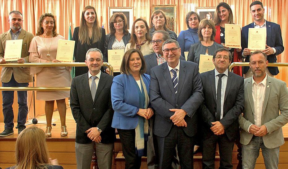 La consejera de Igualdad y Políticas Sociales, María José Sánchez Rubio, durante la entrega del Certificado de Excelencia en Inversión en Servicios Sociales al Ayuntamiento de Vélez-Málaga.