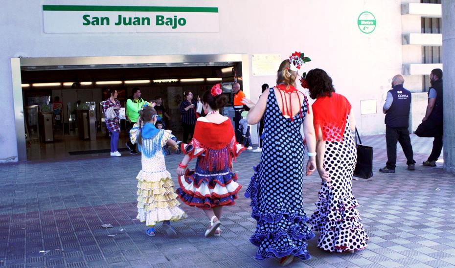 La semana de Feria se ha consolidado desde la entrada en servicio del ferrocarril metropolitano como la de mayor demanda de viajeros en el conjunto del año.