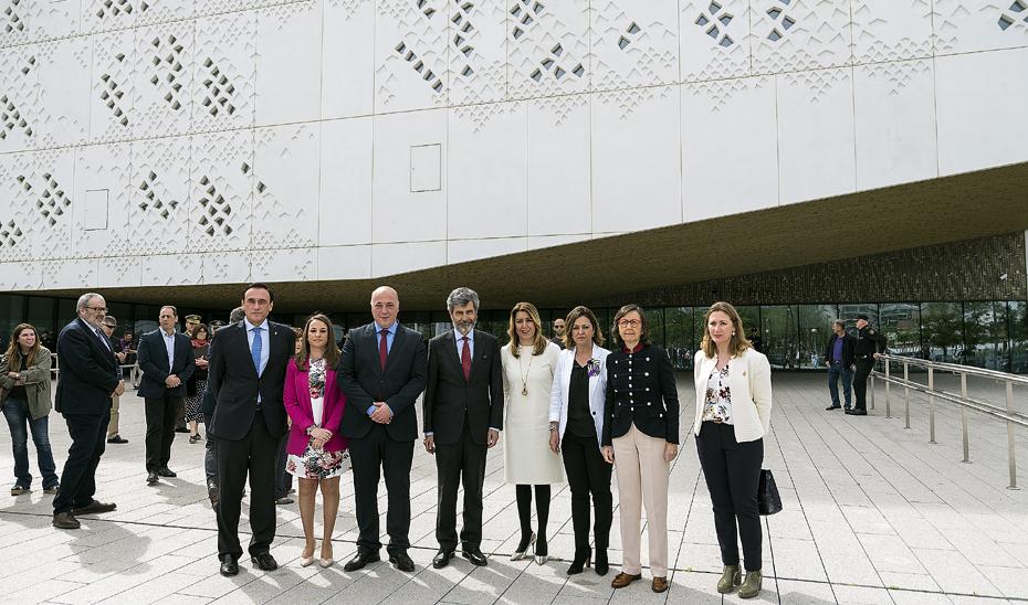 Díaz inauguró la Ciudad de la Justicia de Córdoba.