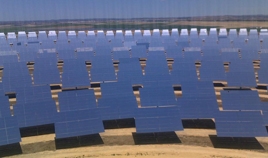 Imagen de una planta solar.
