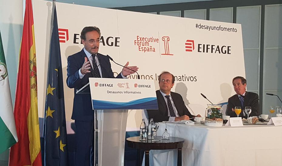 El consejero de Fomento, en el Executive Forum España.