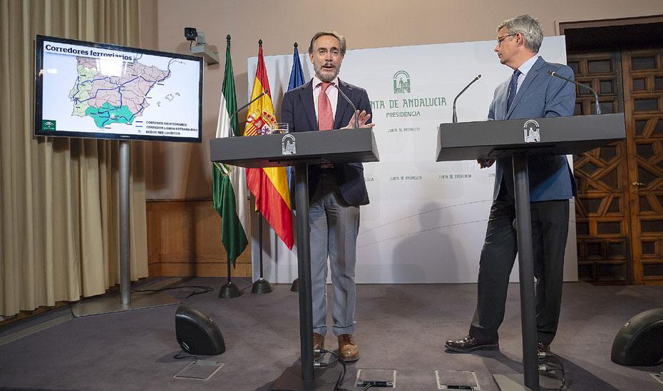 """López confía en un """"seguimiento profundo"""" de la UE sobre las inversiones de los corredores ferroviarios en Andalucía"""