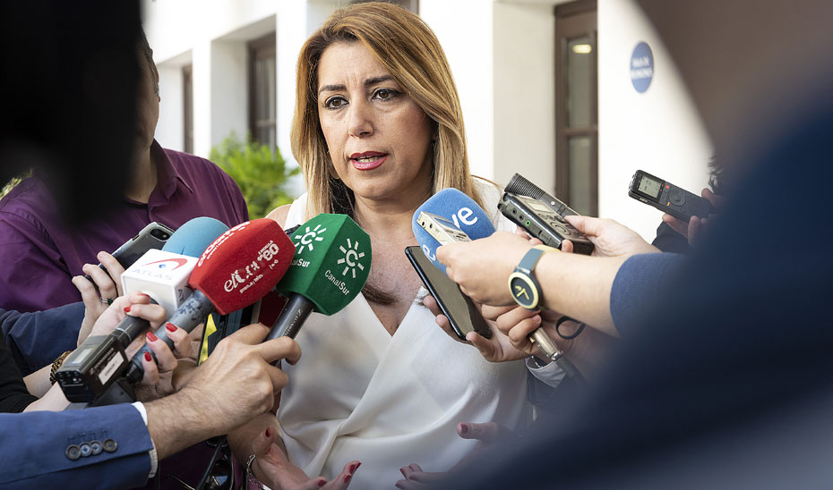 """Susana Díaz reclama a la UE una respuesta """"responsable"""" al drama de la inmigración"""