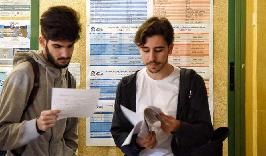 La Junta solicita a las universidades un informe sobre la incidencia en el examen de Matemáticas II de selectividad.