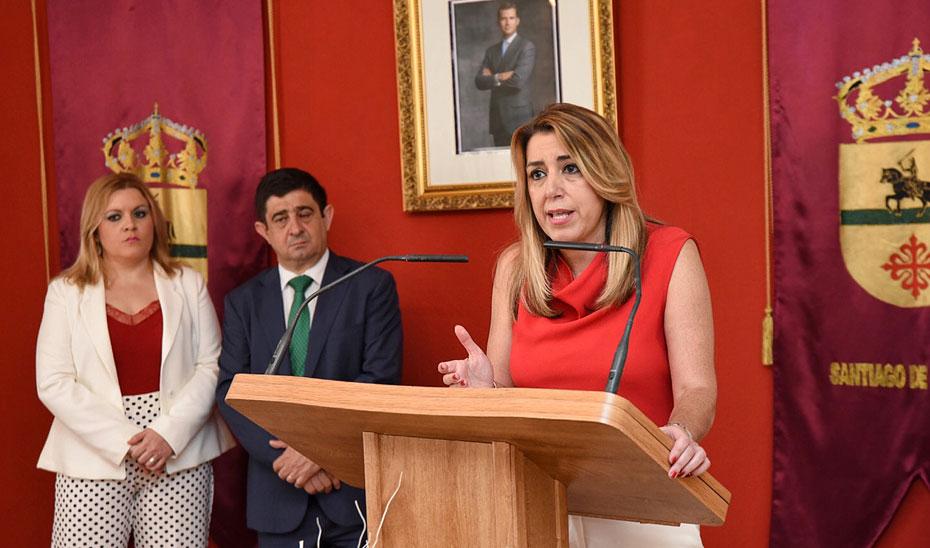 Intervención de la presidenta de la Junta en el Ayuntamiento de Santiago de Calatrava (Jaén)