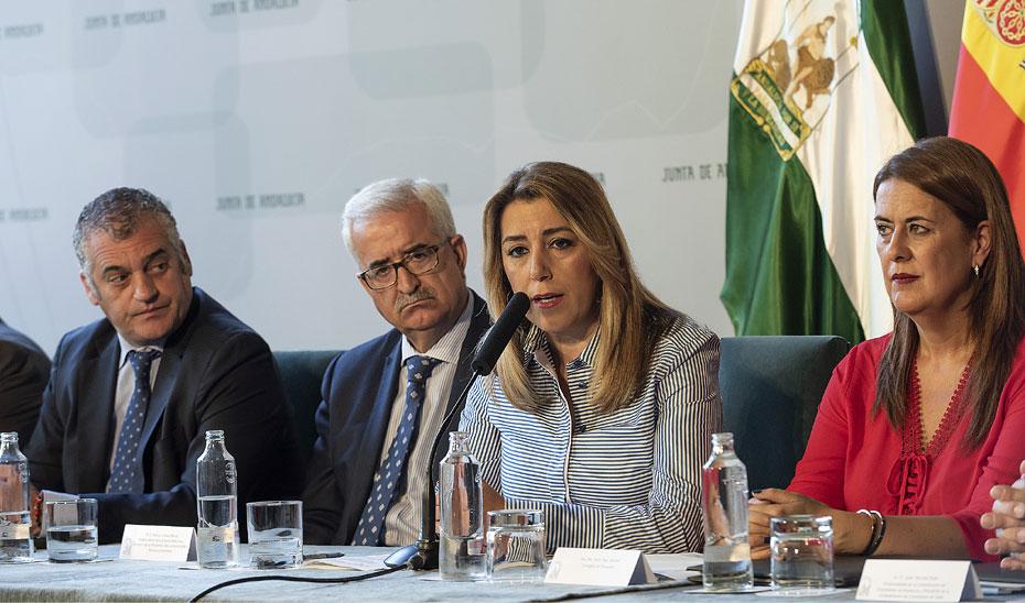 Intervención de Susana Díaz en el acto de la firma de un convenio entre la Junta y el sector de la estiba