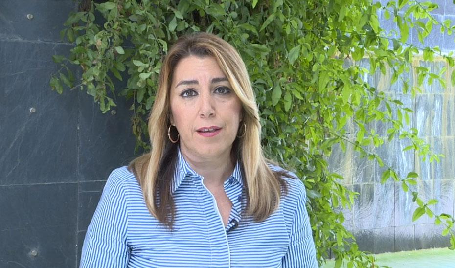 La presidenta de la Junta, Susana Díaz, hace balance tras tres años de su toma de posesión.