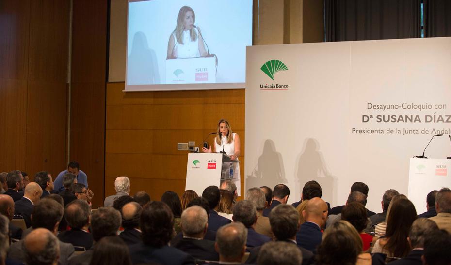 Conferencia de la presidenta de la Junta de Andalucía, Susana Díaz, en el Foro Diario Sur (audio íntegro)